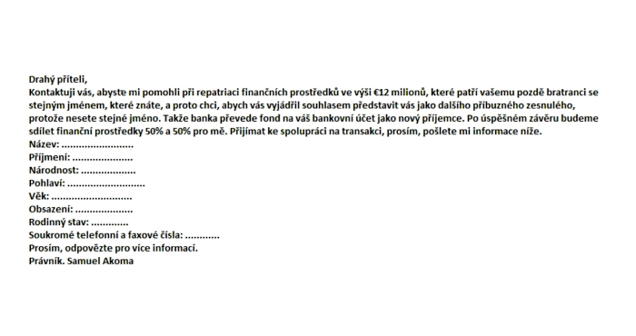 dopis web