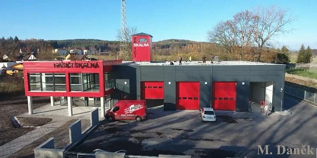 Hasičská zbrojnice Skalná hasiči