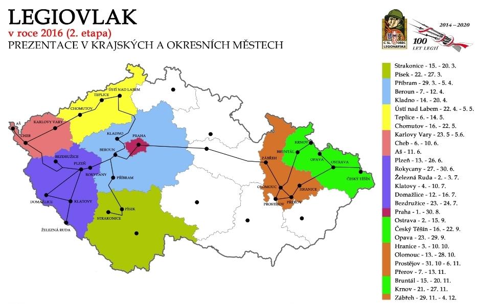 legiovlak mapa