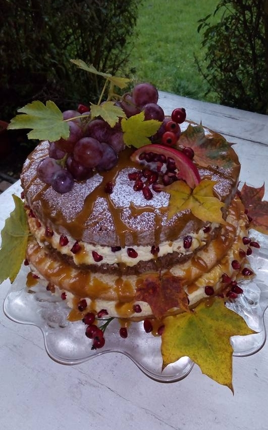 Podzimní nahý dort - Veronika Chmelíková