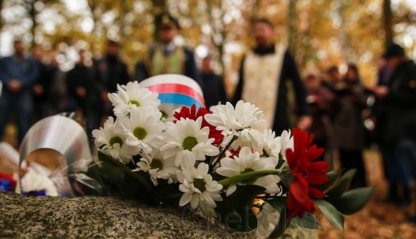 Na místě zajateckého tábora přítomní zavzpomínali na 700 pohřbených vojínů z I. světové války