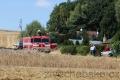 U Podhradu shořel traktor i pole