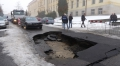 V Chebu se propadla silnice - Autor: Milan Daněk