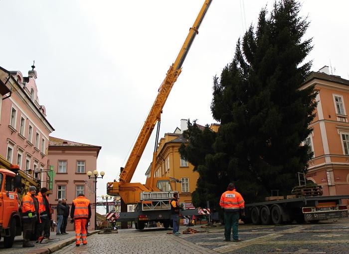 Vánoční strom Cheb