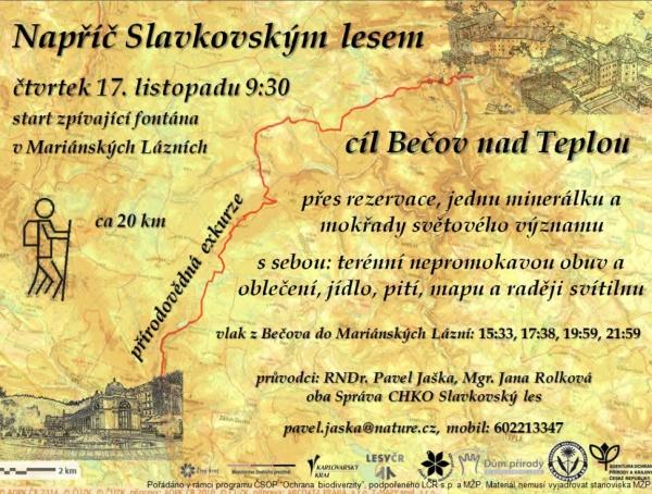 pozvánka vycházka slavkovský les