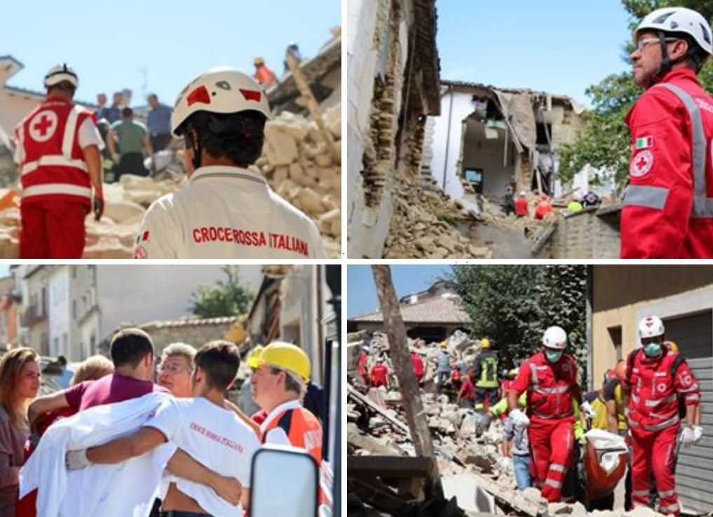 Koláž zemětřesení