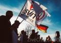 Příznivci i odpůrci imigrace demonstrovali v Schirndingu